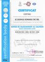 Certificat ISO Certind